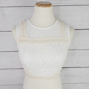 Forever 21 Lace Embroidered Bodice Crop Top
